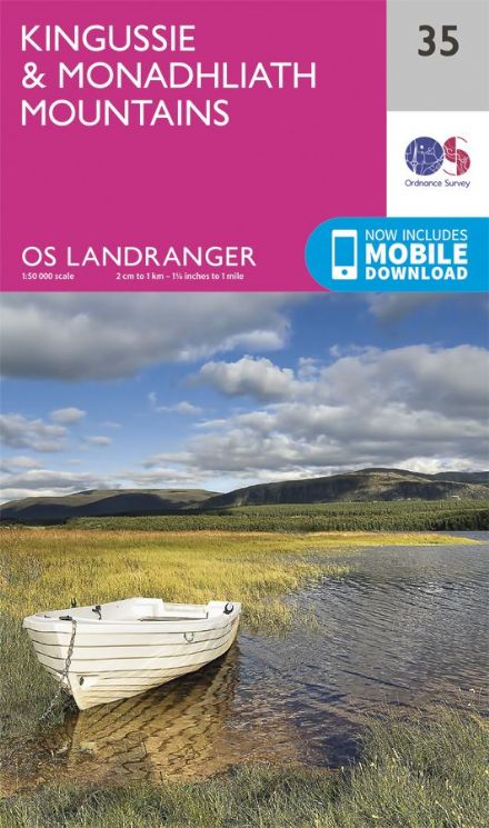 OS Landranger 35 - Kingussie and Monadhliath Mountains